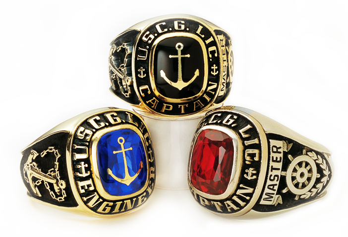 Captains Rings - Gold 10k and 14k