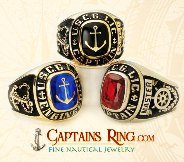 captainsring.com - CAPTAIN / Engineering Ring - Class ring - 14k 10k gold