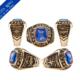 pilots ring - gold 10k or 14k - class graduation ring