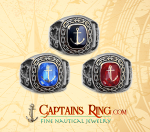 nautical ring - sterling silver